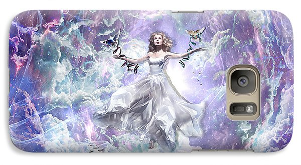 Galaxy Case featuring the digital art Seek And You Shall Find by Dolores Develde