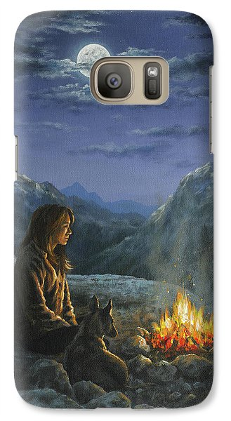 Galaxy Case featuring the painting Seeking Solace by Kim Lockman