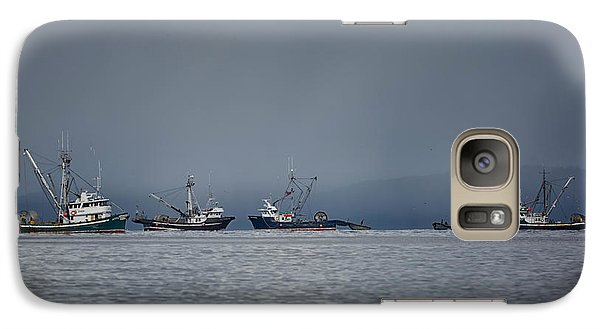 Galaxy Case featuring the photograph Seiners Off Mistaken Island by Randy Hall