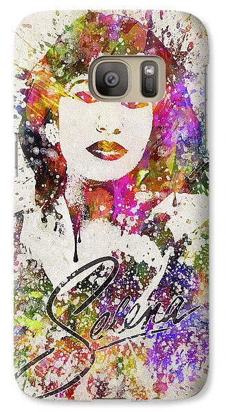 Selena Quintanilla In Color Galaxy S7 Case by Aged Pixel