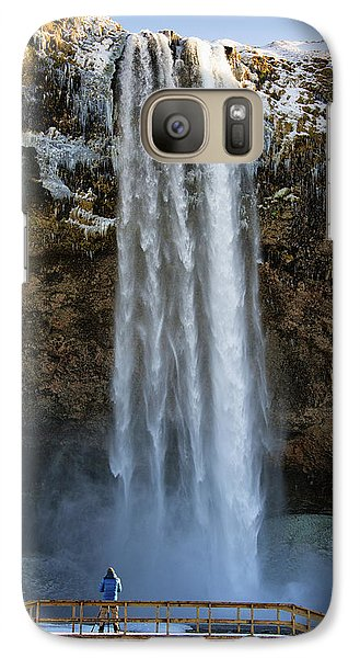 Galaxy Case featuring the photograph Seljalandsfoss Waterfall Iceland Europe by Matthias Hauser