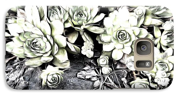 Galaxy Case featuring the photograph Sempervivum - Ebony And Ivory  by Janine Riley