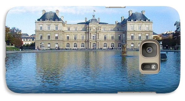 Galaxy Case featuring the photograph Senat From Jardin Du Luxembourg by Christopher Kirby