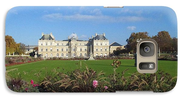 Galaxy Case featuring the photograph Senate From Jardin Du Luxembourg by Christopher Kirby