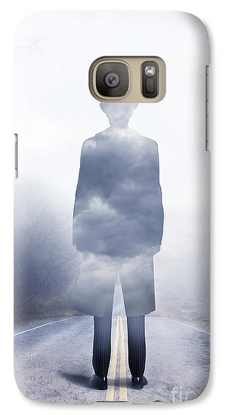 Galaxy Case featuring the digital art Send In The Clouds by Shanina Conway