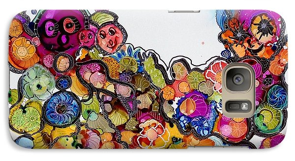 Galaxy Case featuring the painting Send In The Clowns by Suzanne Canner