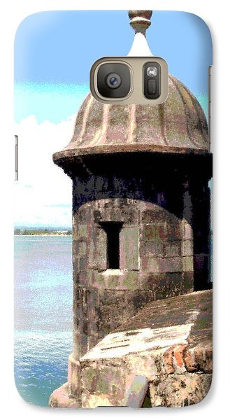 Galaxy Case featuring the photograph Sentry Box In El Morro by The Art of Alice Terrill