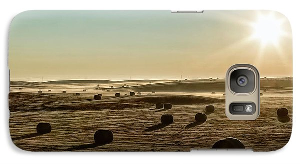 Galaxy Case featuring the photograph September Hay by Brad Allen Fine Art