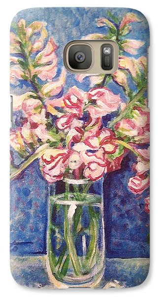 Galaxy Case featuring the painting September Snaps by Laura Aceto