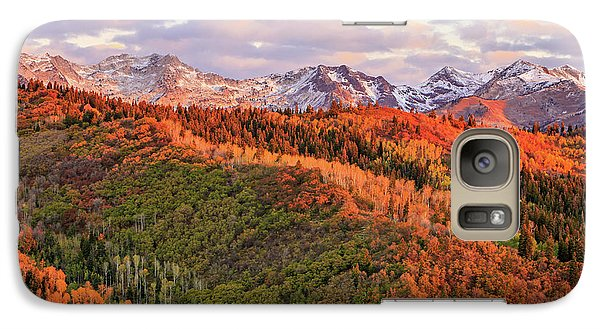 Galaxy Case featuring the photograph September Snow In The Wasatch Back. by Johnny Adolphson
