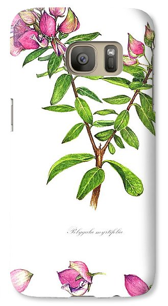 Galaxy Case featuring the painting Septemberbossie  Polygala Myrtifolia by Heidi Kriel