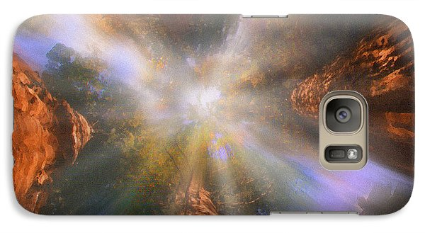 Galaxy Case featuring the painting Sequoia by Robby Donaghey