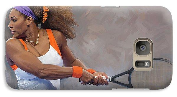 Serena Williams Galaxy S7 Case - Serena Williams Artwork by Sheraz A