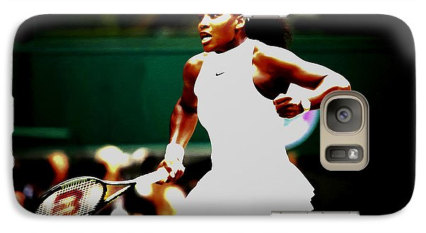 Serena Williams Making History Galaxy S7 Case by Brian Reaves