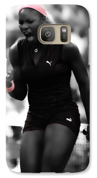 Serena Williams On Fire Galaxy S7 Case by Brian Reaves