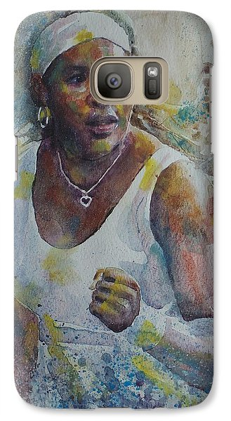 Serena Williams - Portrait 5 Galaxy S7 Case by Baresh Kebar - Kibar