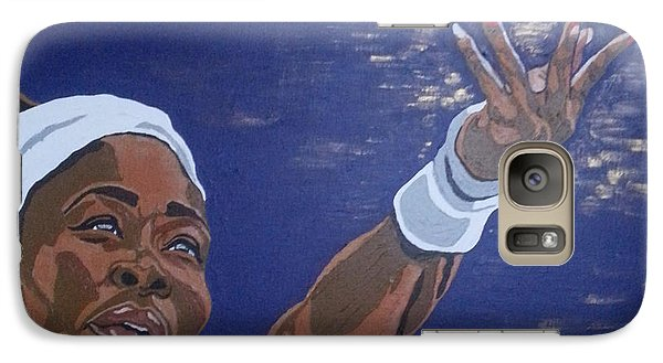 Galaxy Case featuring the painting Serena Williams by Rachel Natalie Rawlins