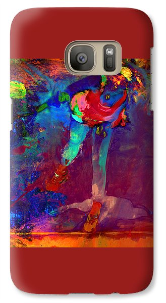 Serena Williams Return Explosion Galaxy S7 Case by Brian Reaves