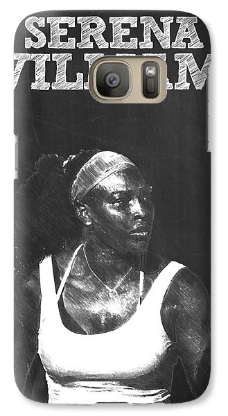 Serena Williams Galaxy S7 Case by Semih Yurdabak