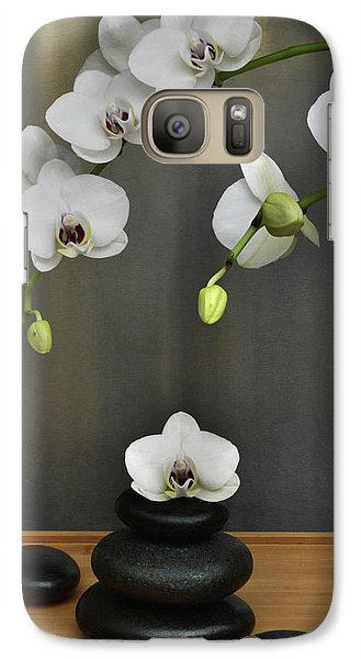 Galaxy Case featuring the photograph Serene Orchid by Terence Davis