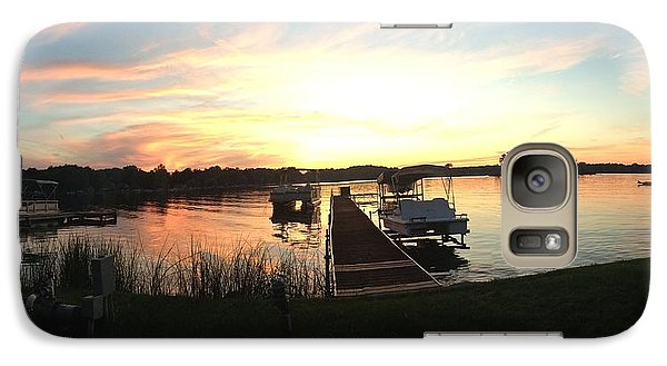 Galaxy Case featuring the photograph Serene Sunset by Rebecca Wood