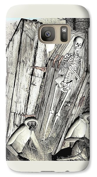Galaxy Case featuring the digital art Serengeti Scavengers by Maynard Ellis