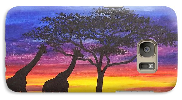 Galaxy Case featuring the painting Serengeti Sunset by Darren Robinson