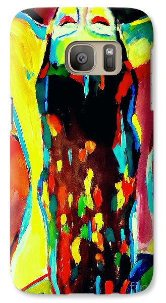 Galaxy Case featuring the painting Serenity by Helena Wierzbicki
