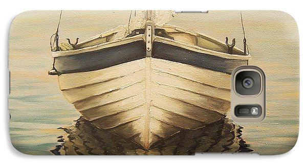 Galaxy Case featuring the painting Serenity by Natalia Tejera