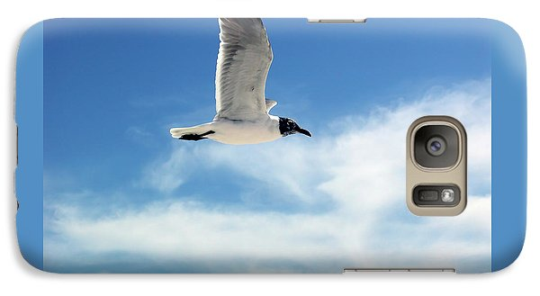 Galaxy Case featuring the photograph Serenity Seagull by Marie Hicks