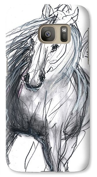 Galaxy Case featuring the mixed media Sergei by Carolyn Weltman