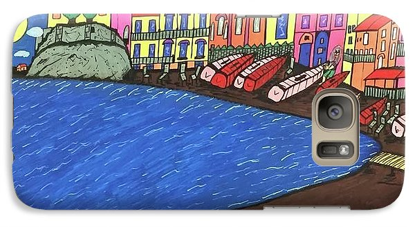 Galaxy Case featuring the painting Sestri Levante Italy by Jonathon Hansen