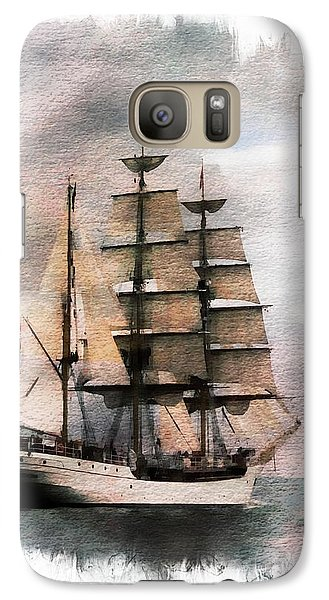 Galaxy Case featuring the painting Set Sail by Aaron Berg