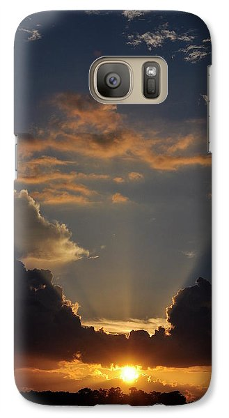 Galaxy Case featuring the photograph Setting Softly by Jan Amiss Photography