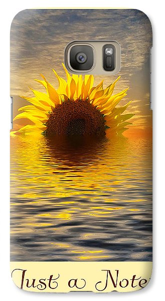 Galaxy Case featuring the photograph Setting Sun-flower Note Card by Geraldine Alexander