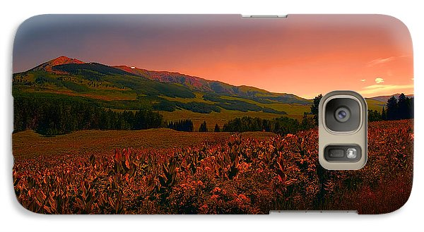 Galaxy Case featuring the photograph Setting Sun In Crested Butte by Tom Potter