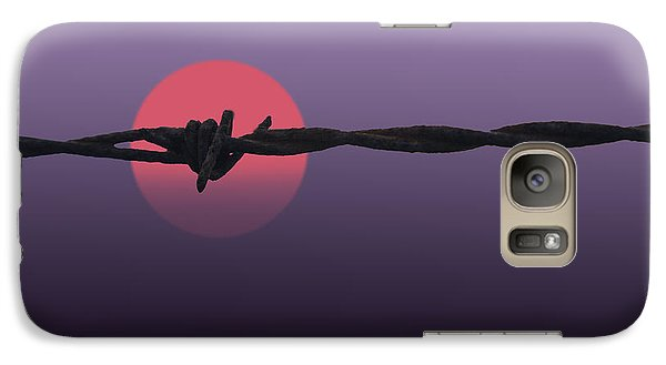 Galaxy Case featuring the photograph Setting Sun by Skip Tribby