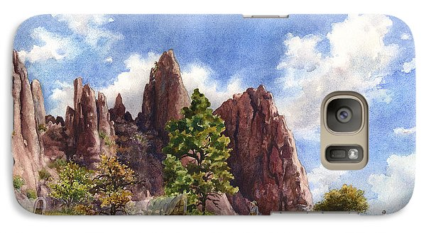 Galaxy Case featuring the painting Settler's Park, Boulder, Colorado by Anne Gifford