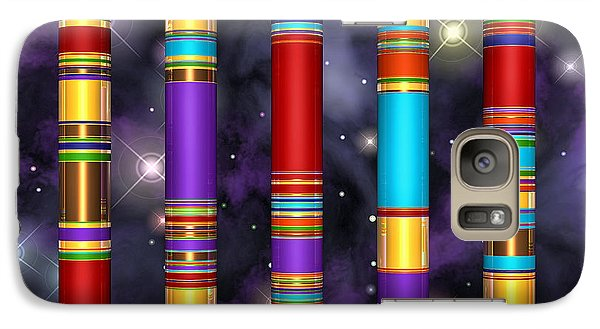 Galaxy Case featuring the digital art Seven by Andreas Thust