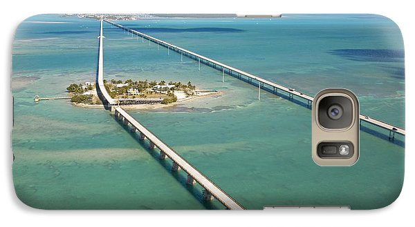 Pigeon Galaxy S7 Case - Seven Mile Bridge Crossing Pigeon Key by Mike Theiss