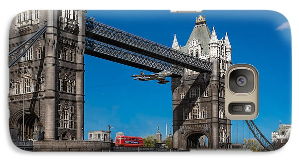 Galaxy Case featuring the photograph Seven Seconds - The Tower Bridge Hawker Hunter Incident  by Gary Eason