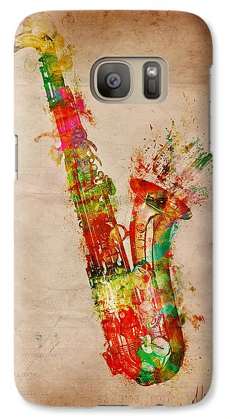 Saxophone Galaxy S7 Case - Sexy Saxaphone by Nikki Smith