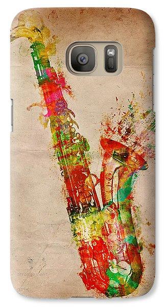Saxophone Galaxy S7 Case - Sexy Saxaphone by Nikki Smith