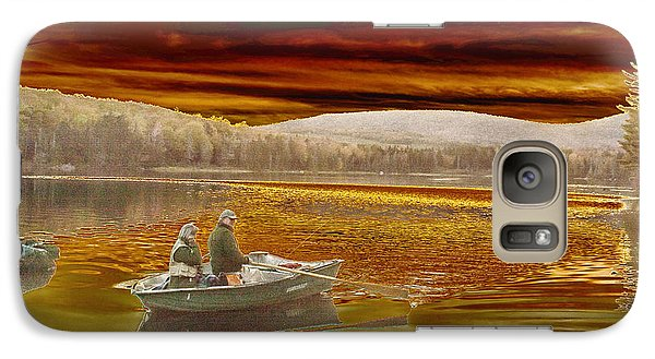 Galaxy Case featuring the photograph Seyon Sunset by Paul Miller