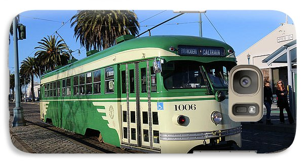 Galaxy Case featuring the photograph Sf Muni Railway Trolley Number 1006 by Steven Spak