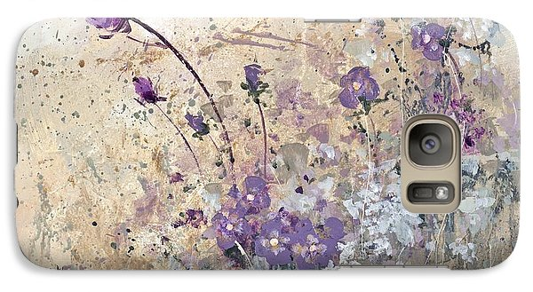 Galaxy Case featuring the painting Shabby Eleven by Laura Lee Zanghetti