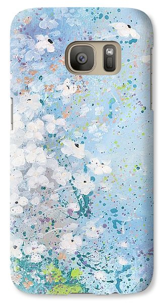 Galaxy Case featuring the painting Shabby Nine by Laura Lee Zanghetti