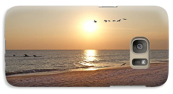 Shackleford Banks Sunset Galaxy S7 Case