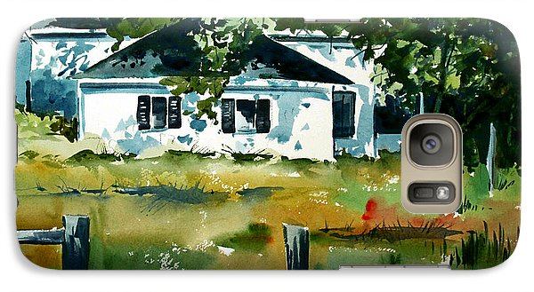 Galaxy Case featuring the painting Shaded Porch by Charlie Spear