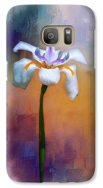 Galaxy Case featuring the photograph Shades Of Iris by Carolyn Marshall